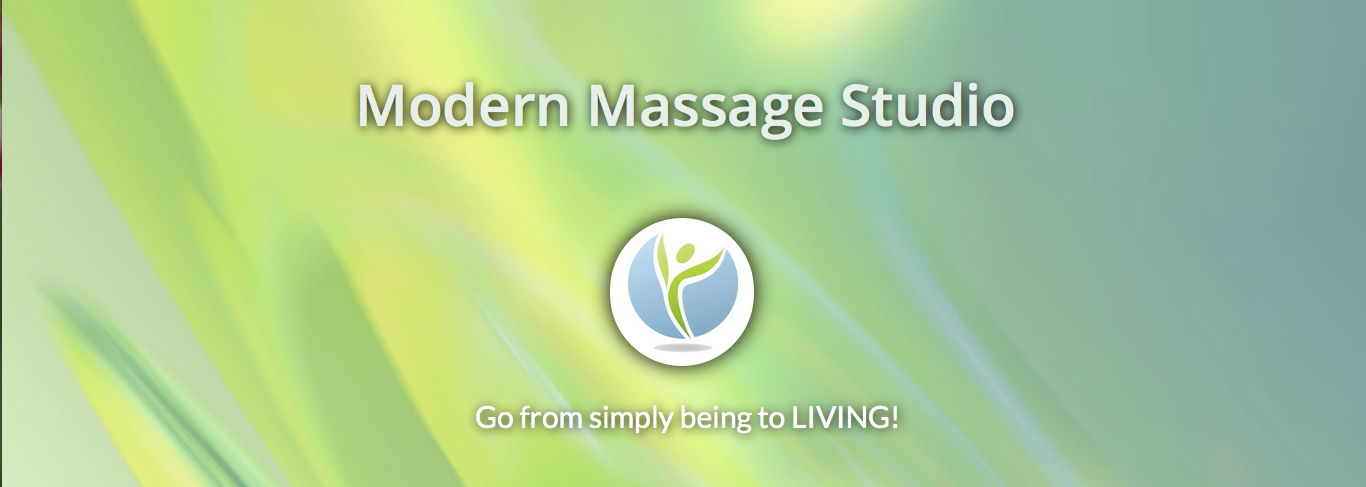 "logo that says ""modern massage studio"""